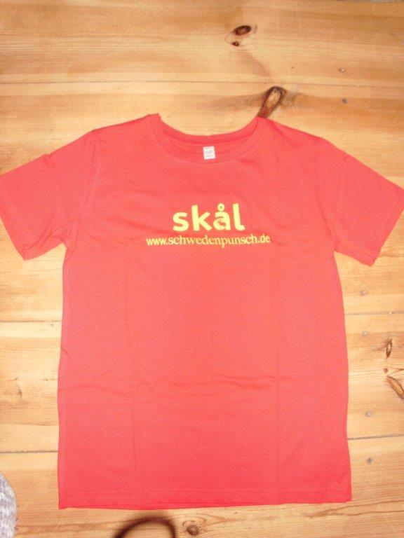 Schwedenpunsch-Shirt rot